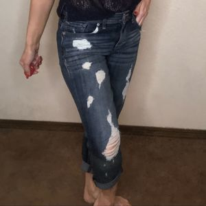 {Express} destroyed ripped jeans 0